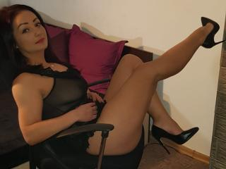 Picture of the sexy profile of Asie, for a very hot webcam live show !