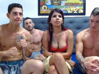 MarceGtGngBngw - chat online sexy with a shaved intimate parts Foursome