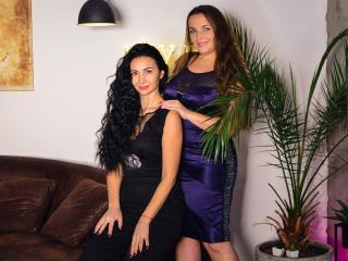 NikaXRysa - Cam hot with a brunet Girl on girl