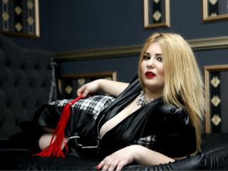 BustyFetishKim - Webcam live hard with a gold hair Mistress