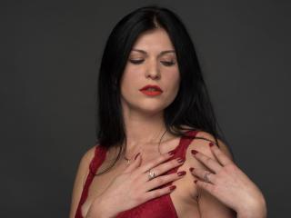 Foto de perfil sexy da modelo DominicaRiviera, para um live show muito quente!