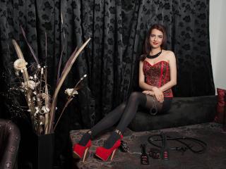 Foto de perfil sexy da modelo MistressAmalia, para um live show muito quente!