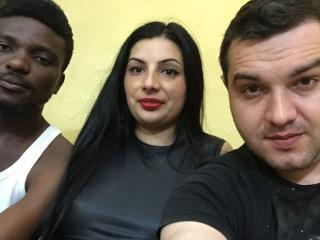 InteracialTrio - Webcam live xXx with this lean Group of three