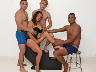 Picture of the sexy profile of ThreeBoysOneWoman, for a very hot webcam live show !